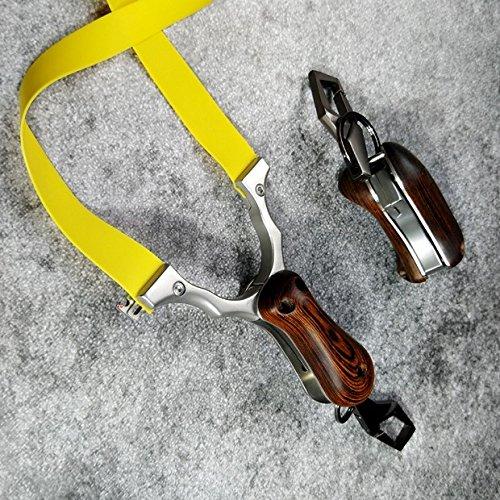 VERY100 Jagd Schleuder Profi Zwille Slingshot mit Klemmvorrichtung Katapult Steinschleuder Sportschleuder aus Edelstahl mit 800 Stück Stahlkugel und Slingshotkugel aus Schlamm