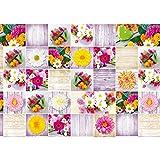 Susy Card Geschenkpapier Floral, 1 Stück, eingeschweißt, 10 m, Standardpapier