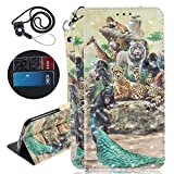 Coopay for Samsung A6Plus 2018 Wallet Case, Fashion Boy Zoo