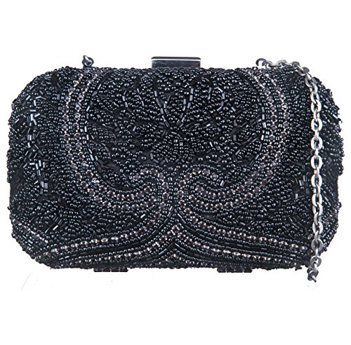 Neon By Paint PT2152CL020BLA Box Clutch (Black)