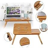 Laptoptisch Bambus Laptop Ständer höhenverstellbar Notebooktisch Betttablett