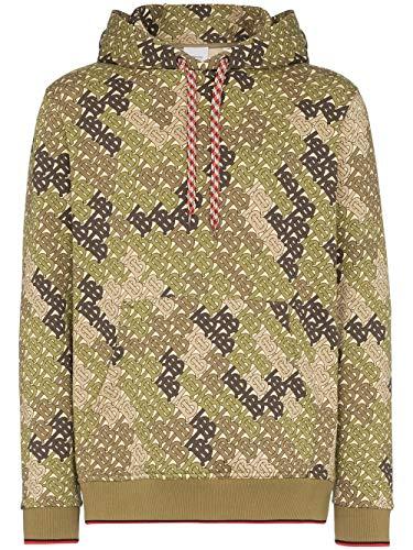 BURBERRY Herren 8014354 Grün Baumwolle Sweatshirt