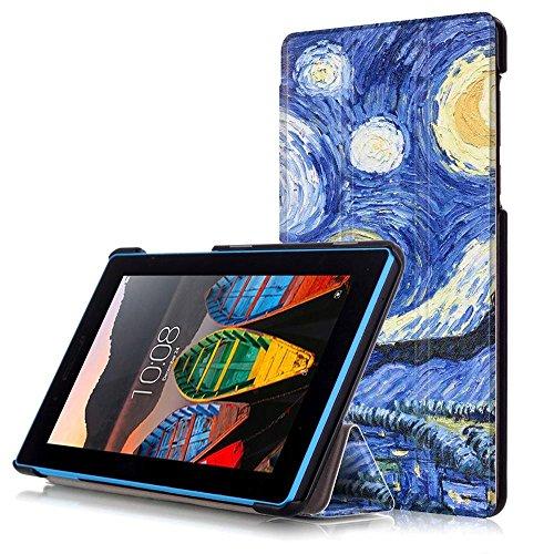 DETUOSI Lenovo Tab 3 7 Cover Custodia Slim Smart Cover Custodia in Pelle PU Protettiva per Lenovo Tab 3 7 Pollici (TB3-730F/TB3-730X/TB3-730M) Tablet