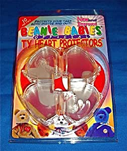 TY BEANIE BABIES - OFFICIAL TY HEART PROTECTORS (10 PER PACK)