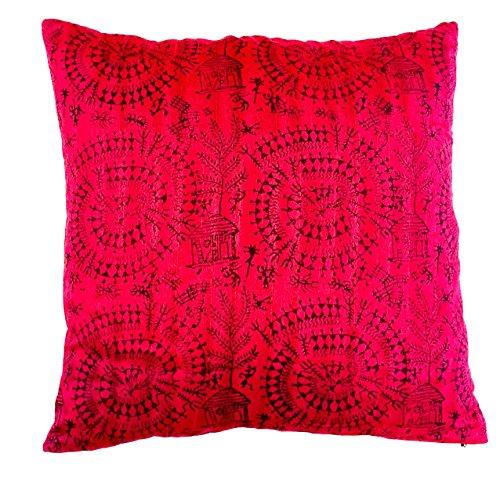 the-indian-promenade-16-x-16-cm-en-coton-melange-warli-housse-de-coussin-imprimee-motif-bright-de-vi