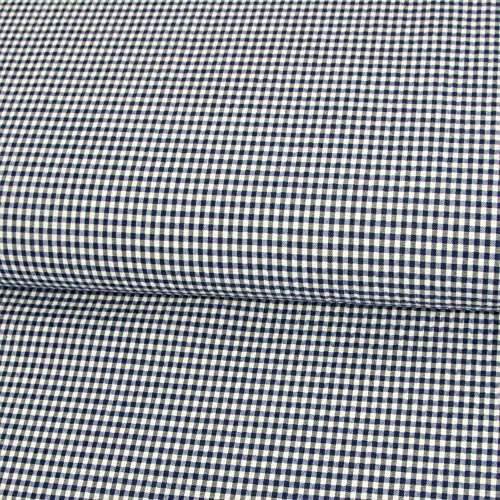 78e6b2ccf00 Stoffe Werning Cotton Fabric Seersucker Checked Blue White Stretch Fabric  Cross Elastic – Price Applies to 0.5 Metres
