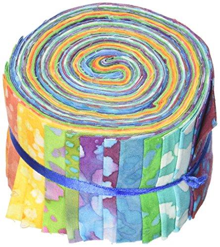 Stoff Editions lang Road-Jelly Rolls, Acryl, Mehrfarbig (Jelly Roll Stoff Batik)