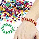 Baker Ross Tri-Perlen (Größe: 10mm) im Vorteilspack in bunten Farben zum Schmuck basteln für Kinder - (700 Stück)