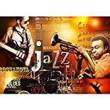Vlies Fototapete PREMIUM PLUS Wand Foto Tapete Wand Bild Vliestapete - Jazz Rock n Roll Musik Noten Blues - no. 2330, Größe:368x254cm Vlies