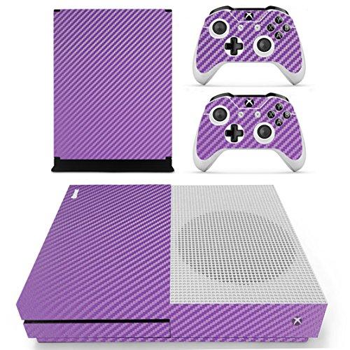 DOTBUY Dottbuy Vinyl-Aufkleber für Xbox One S Konsole & Wireless Controller Carbon Fiber Purple