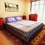 eCraftIndia Shades of Leaf Blue Jaipuri ...