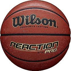 Wilson, Ballon de Basketball, Reaction Pro, Orange, Taille : 7, Similicuir, intérieur et extérieur, WTB10137XB07