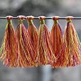 #7: Embroiderymaterial Tassels for Craft,Earring Making and Decoration Purpose (10 Pieces,Multi-Color)