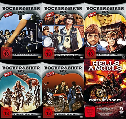20 Filme Rocker & Biker Mega Collection HELLS ANGELS - DIE ENGEL DES TODES - Horrortrip mit 100 PS !!! DVD Edition