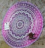 Tapiz De Mandala Redollo Para Colgar En Toed Toalla De Playa Alfombra Decoración Description De Voyage Toalla De Playa Plage (Color : Púrpura, Size : 145 cm)