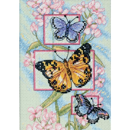 Dimensions Gezählter Kreuzstick Set, Blossom and Butterfly (Floral Cross Kit)