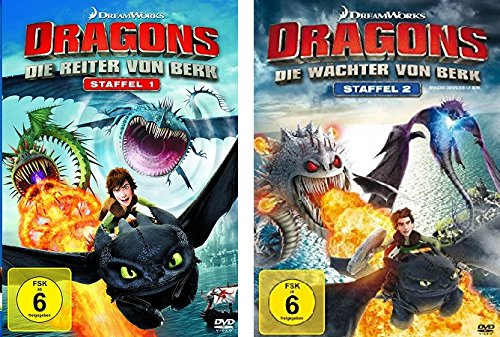 Dragons - Staffel 1 (Die Reiter von Berk) + Staffel 2 (Die Wächter von Berk) im Set - Deutsche Originalware [8 DVDs]