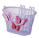 Basil Jasmin Schmetterlingskorb - Kinderfahrradkorb (Lila)