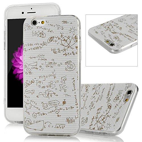 iPhone 6 Plus/6S Plus Funda - Lanveni Chic Elegante Carcasa Suave TPU Gel Silicona ultra Slim para iPhone 6 Plus/6S Plus 5.5 pulgadas Transparente Case - Patrón Fórmula Función Diseño