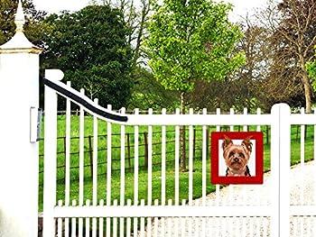 Yorkshire Terrier panneau plaque chien de garde 22 x 22 cm
