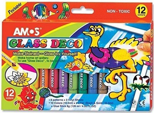 Amos - Pintura Barniz Pelable Cristal Juego 12 Unidades