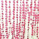 Girlande aus pink/rosa Kreisen,