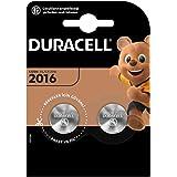 Duracell lithium-knoopcelbatterij. Type 2016 2er Pack metallic