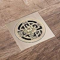 YONG Drenaje del Piso del Baño, 10 * 10 cm Antiguo Drenaje de Ducha Cuadrado de Bronce para Inodoro Lavabo Jardín baño