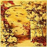 zxddzl Hermosas Flores Rojas Vintage Papel Cartel Pared Pintura decoración del hogar hogar y jardín Pintura y caligrafía