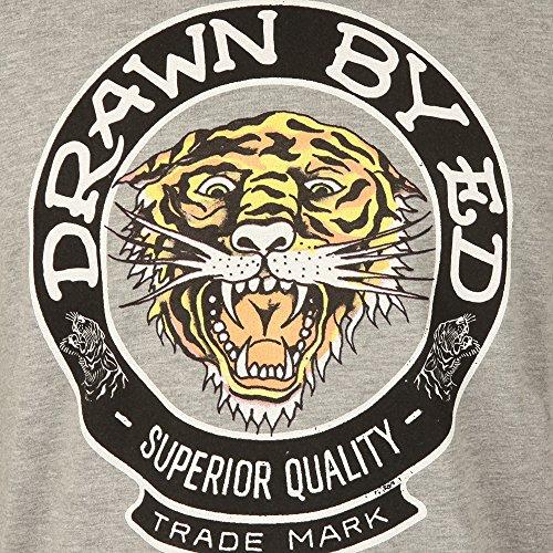 Ed Hardy Herren T-Shirt grau Drawn Roar | Grey Drawn Roar | Grey