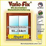 Vario-Fix Spezial Haltebügel für 12cm Blumenkasten mit 90cm Spannstange