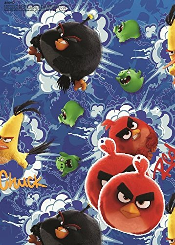 Image of Angry Birds Movie 2 Sheets Of Gift Wrap And 2 Gift Tags