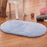 XINQING Antiskid wasseraufnahmefähigkeit Teppich an der tür des oval Bad matten im Schlafzimmer der Wohnung im Bad der Bad 50 x 80 cm,blau
