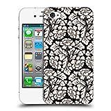Head Case Designs Offizielle Anis Illustration Schwarz 1 Blumige Muster 2 Ruckseite Hülle für iPhone 4 / iPhone 4S