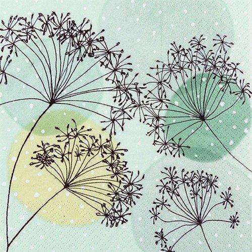 20 Servietten Harmonie und Ausgewogenheit / Blumen / Muster / Pastellfarben 33x33cm