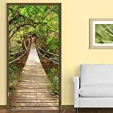 """Walplus Wall Stickers """"Jungle Catwalk"""" Removable Self-Adhesive Mural Art Decals Vinyl Home Decoration DIY Living Bedroom Office Décor Wallpaper Kids Room Gift"""