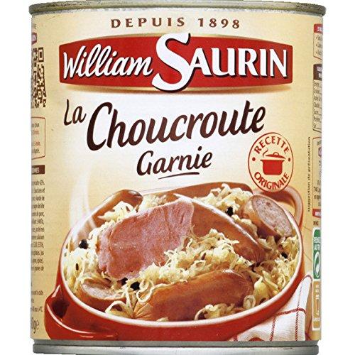 William Saurin - Choucroute garnie au vin blanc - La boîte de 800g - (pour la quantité plus que 1 nous vous remboursons le port supplémentaire)
