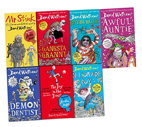 David Walliam Collection 7 Books Pack Set [(Demon Dentist(Hardback), Billionaire Boy, The Boy in the Dress, Mr Stink, Gangsta Granny, Ratburger, Awful Auntie(Hardback)] Pdf - ePub - Audiolivre Telecharger