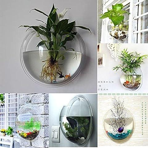FreshGadgetz Indoor/ Outdoor Wall Mounted Plastic Plant Pot Rare Modern