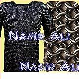 konifizierte Kette mail Shirt schwarz groß SCA Mittelalter Kettengeflecht Kettenhemd Armor Kostüm