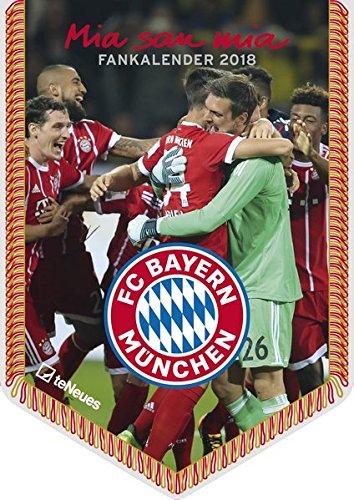 FC Bayern Kalender 2018 - Bannerkalender A4, Fussball Kalender, Fankalender, FCB Kalender 2018, FC Bayern München Kalender 2018 - 21 x 29,7 cm
