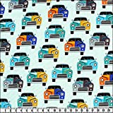 alfa HOME Baumwoll-Kinderdruck, Cool Cars,