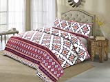 AdamLinens Luxury Duvet Cover Bedding Bed Set, Quilt Cover With Pillowcases (Mosaic Purple, King)