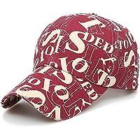 Gorra de béisbol Carta de Lona Color de Color Ajustable Sombreros Lavable Ajustables para Hombres Mujeres Clásico Sombrero de Sol Transpirable Liso Al Aire Libre
