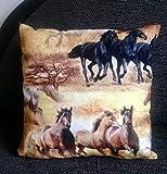 Pferdekissen/Zierkissen,Kinderzimmer Deko, Pferd Kinder,Geschenk Schulanfang, Geschenk für Mädchen, Fan Pferde,handmade Deutschland