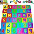 36pcs 12x12 Inches Per Tile Large Soft Puzzle Mat EVA Foam Pop-Out Alphabet Letters Numbers Educational Toy Interlocking Jigsaw Baby Children Kids Floor Mats Playing Padded Playmat Carpet Rug