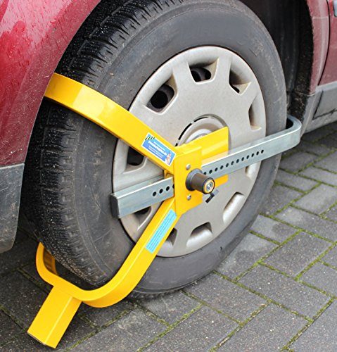 Parkkralle Radkralle Reifenkralle Diebstahlsicherung Wegfahrsperre Auto PKW