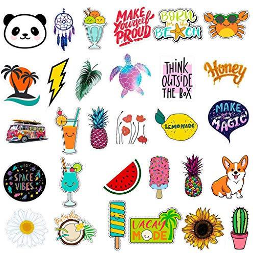 Wasseraufkleber, Chshe , Wasseraufkleber, Flaschen Wasserdichte Ästhetische Mode-Aufkleber, Süß Groß Und Groß Für Teenager (Multicolor)