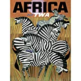 Wee Blue Coo Africa Travel TWA Airline Zebra Large Wall Art Poster Print Thick Paper 18X24 inch Afrique Voyage Compagnie aérienne Zèbre Mur Impression d'affiches...