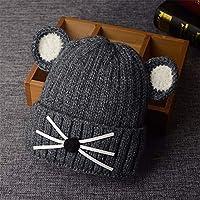 ETMAAA Winter Plus Samtverdickung Kinder Hut Junge und Mädchen warme Wollmütze Baby Mütze
